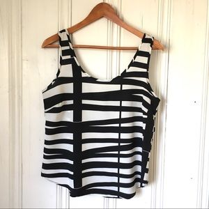 ZIPPER BACK CROP TOP TANK TOP BLOUSE SIZE Sm